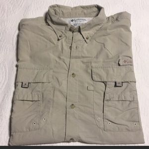Columbia PFG short sleeve button down